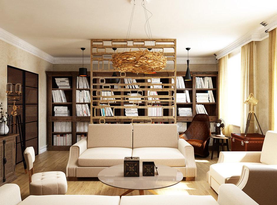 Фотография: Гостиная в стиле Лофт, Квартира, Проект недели, Эко – фото на InMyRoom.ru