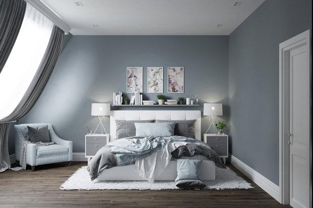 Фото из портфолио BEDROOM | BLUE & GRAY – фотографии дизайна интерьеров на INMYROOM