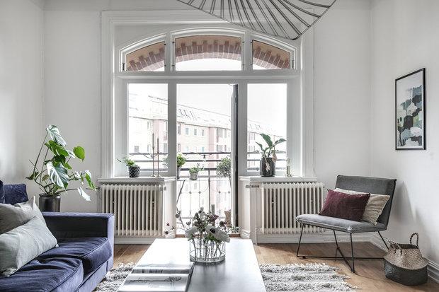 Фотография: Гостиная в стиле Современный, Декор интерьера, Квартира, Швеция, Гетеборг, 2 комнаты – фото на InMyRoom.ru