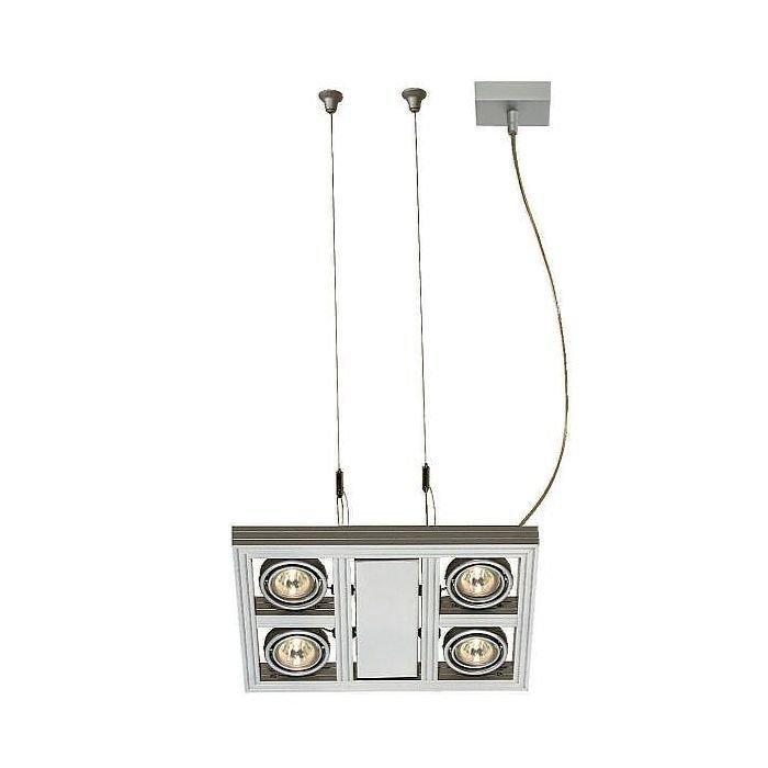 Светильник подвесной с ЭПН Aixlight Square SLV серебристый