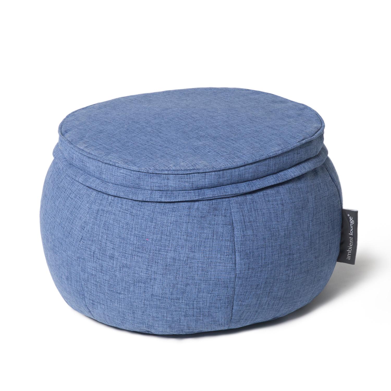 Бескаркасный пуф Ambient Lounge Wing Ottoman™ - Blue Jazz (синий цвет)