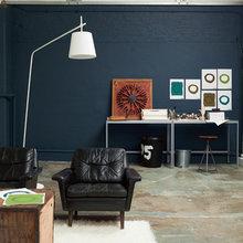 Фотография: Гостиная в стиле Лофт, Декор интерьера, Дизайн интерьера, Цвет в интерьере, Dulux, ColourFutures, Akzonobel, Краски – фото на InMyRoom.ru