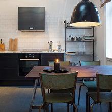 Фотография: Кухня и столовая в стиле Современный, Скандинавский, Малогабаритная квартира, Квартира, Дома и квартиры, Стокгольм – фото на InMyRoom.ru