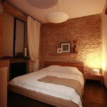 Фотография: Спальня в стиле Лофт, Квартира, Дома и квартиры, Москва – фото на InMyRoom.ru