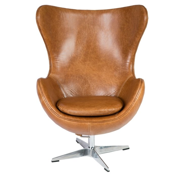 Кожаное кресло Эгг Чеир