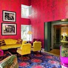 Фотография: Гостиная в стиле , Эклектика, Декор интерьера, Декор дома, Цвет в интерьере, Геометрия в интерьере – фото на InMyRoom.ru