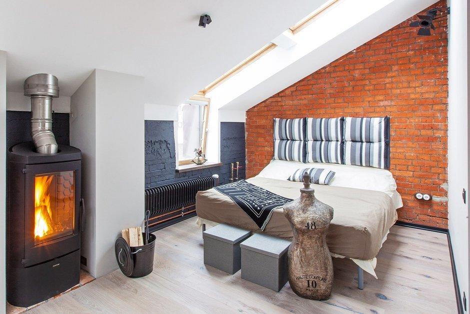 Фотография: Спальня в стиле Лофт, Квартира, Дома и квартиры – фото на InMyRoom.ru