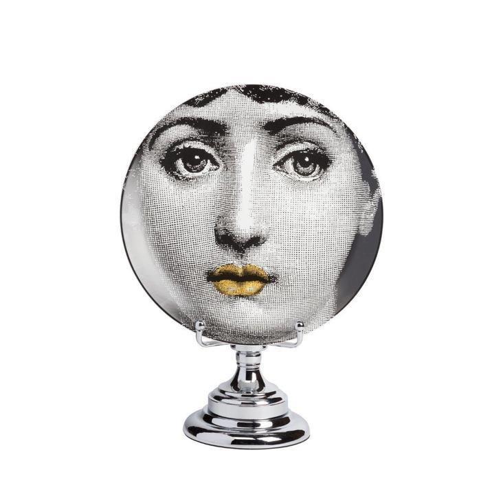 Декоративная тарелка на подставке Пьеро Форназетти Dolore Jaune