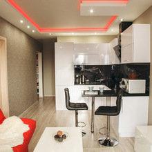 Фотография: Кухня и столовая в стиле Современный, Малогабаритная квартира, Квартира, Дизайн интерьера – фото на InMyRoom.ru