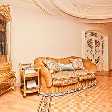 Фотография: Гостиная в стиле Классический, Современный, Квартира, Дома и квартиры, Роспись – фото на InMyRoom.ru