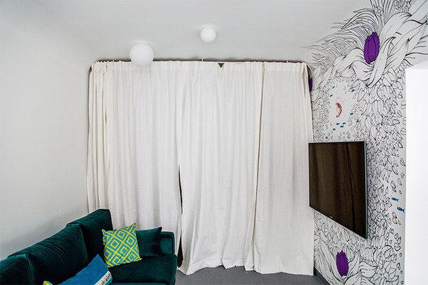 Фотография: Спальня в стиле Лофт, Кухня и столовая, Интерьер комнат, Elle Decoration – фото на InMyRoom.ru