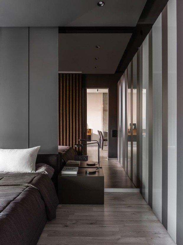 Фотография: Спальня в стиле Лофт, Кухня и столовая, Гостиная, Квартира, Проект недели, Черный, Серый, ПРЕМИЯ INMYROOM – фото на INMYROOM