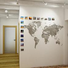 Фотография: Прихожая в стиле Современный, Декор интерьера, Квартира, Цвет в интерьере, Дома и квартиры, Проект недели, Стены – фото на InMyRoom.ru