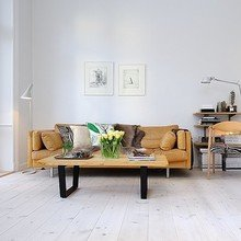 Фотография: Гостиная в стиле Скандинавский, Минимализм, Малогабаритная квартира, Квартира, Мебель и свет, Дома и квартиры, Стокгольм – фото на InMyRoom.ru