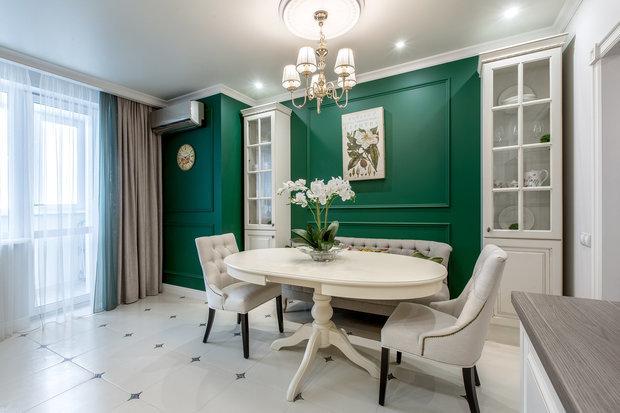 Фотография: Кухня и столовая в стиле Классический, Современный, Цвет в интерьере, Краски, Интервью, цветовая гамма интерьера, Как выбрать цвет краски для стен, Little Greenе, Дэвид Моттерсхед – фото на INMYROOM