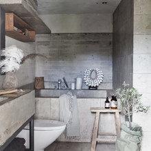Фото из портфолио Ванная комната : Серый, сырой бетон и известняк'' – фотографии дизайна интерьеров на InMyRoom.ru