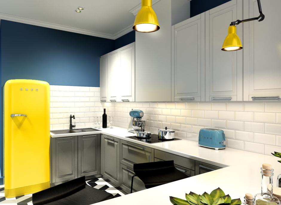 Фотография: Кухня и столовая в стиле Лофт, Квартира, Проект недели, Анастасия Туганова – фото на InMyRoom.ru