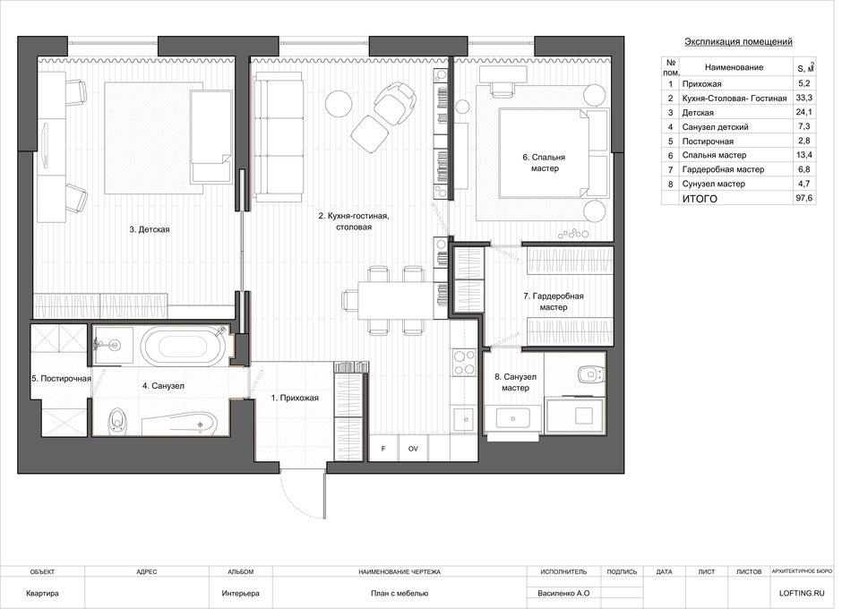 Фотография:  в стиле , Квартира, Минимализм, Проект недели, Москва, Монолитный дом, 3 комнаты, Более 90 метров, Lofting – фото на InMyRoom.ru