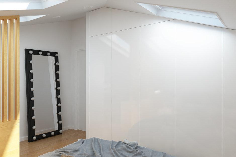 Фотография: Спальня в стиле Скандинавский, Квартира, Проект недели, Химки, Geometrium, ЖК «Город Набережных» – фото на InMyRoom.ru
