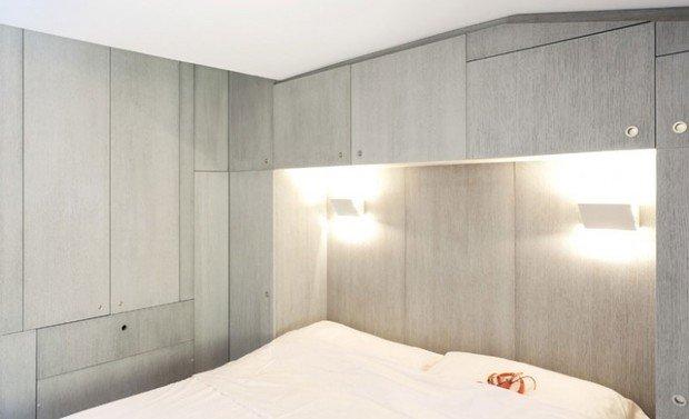Фотография: Спальня в стиле Скандинавский, Современный, Квартира, Цвет в интерьере, Дома и квартиры, Белый, Минимализм – фото на InMyRoom.ru