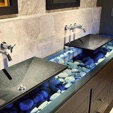 Фотография: Ванная в стиле Современный, Эко, Декор интерьера, Квартира, Декор, Советы, раковина, раковина в ванной – фото на InMyRoom.ru