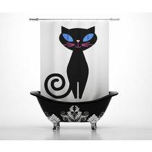 Штора для ванной: Мурка
