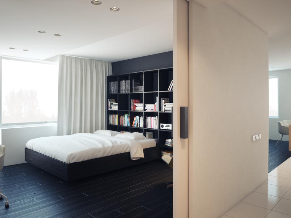 Фотография: Спальня в стиле Современный, Хай-тек, Квартира, Дома и квартиры, Минимализм – фото на InMyRoom.ru