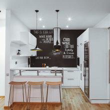 Фото из портфолио Современная кухня с грифельной стеной – фотографии дизайна интерьеров на INMYROOM
