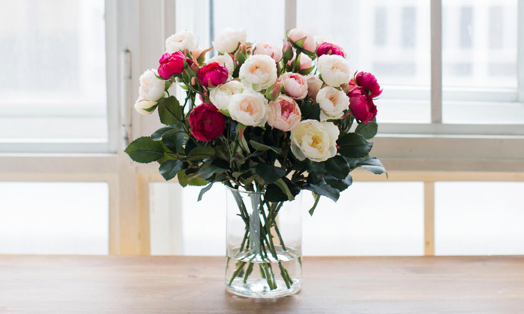 Купить Композиция из искусственных цветов - кустовые розы лотте, inmyroom, Россия