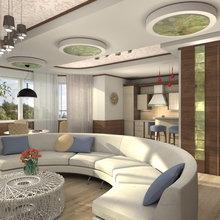 Фото из портфолио Дом- яхта)наброски гостиной – фотографии дизайна интерьеров на InMyRoom.ru