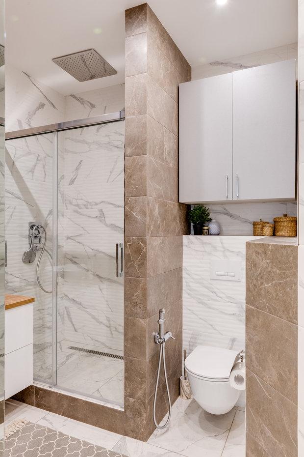 Фотография: Ванная в стиле Современный, Квартира, Проект недели, Мытищи, 4 и больше, Более 90 метров, Анна Шаповалова – фото на INMYROOM