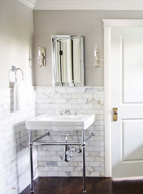 Фотография: Ванная в стиле Прованс и Кантри, Декор интерьера, DIY, Интерьер комнат, Переделка – фото на InMyRoom.ru
