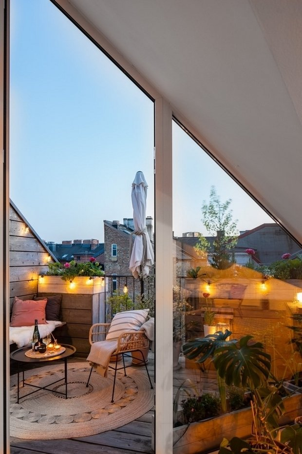 Фотография: Балкон в стиле Скандинавский, Декор интерьера, Швеция, 2 комнаты – фото на INMYROOM