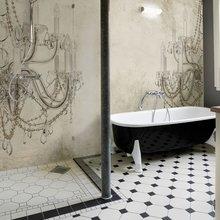 Фотография: Ванная в стиле Классический, Современный, Карта покупок, Индустрия, Фотообои – фото на InMyRoom.ru
