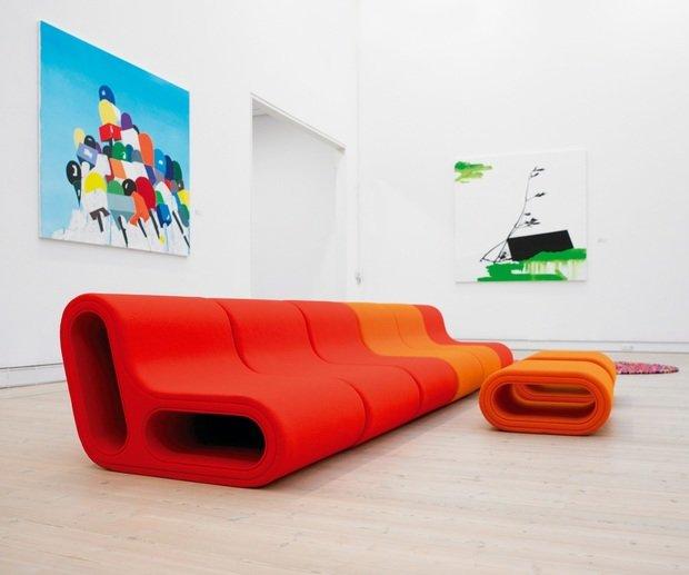 Фотография: Гостиная в стиле , Дизайн интерьера, Цвет в интерьере, Советы, Поп-арт – фото на InMyRoom.ru