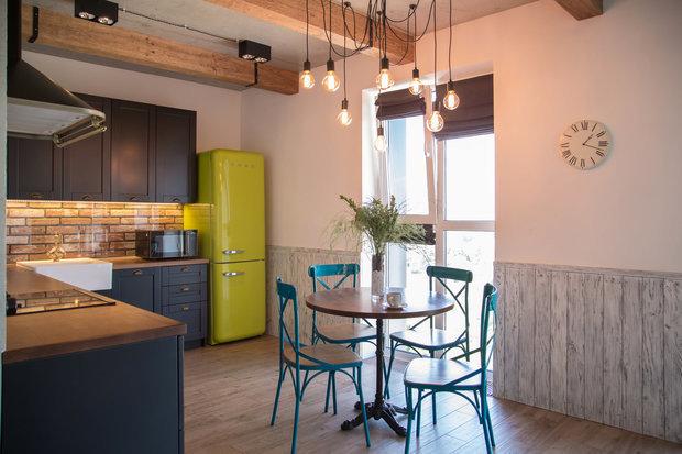 Фотография: Кухня и столовая в стиле Скандинавский, Советы, Стены, Декоративная штукатурка, Dali decor, Dali-Decor – фото на INMYROOM