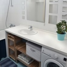 Фото из портфолио Ремонт ванной комнаты по ул.Молодежная – фотографии дизайна интерьеров на INMYROOM