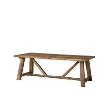 Скамья из дуба обработана вручную 76x230x100 см