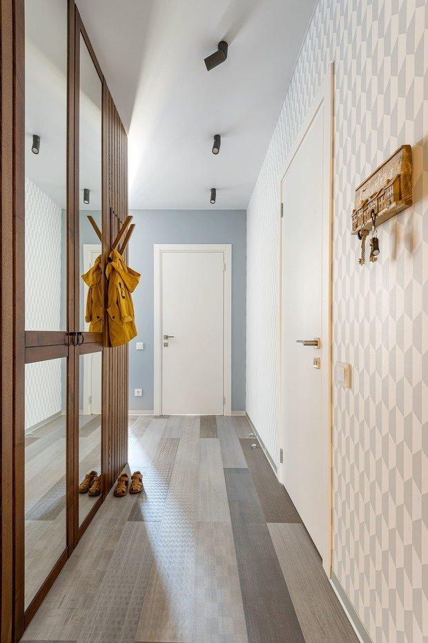 Фотография: Прихожая в стиле Современный, Эко, Квартира, Проект недели, 2 комнаты, 40-60 метров, Светлогорск, Виктория Лазарева – фото на INMYROOM