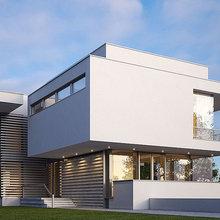 Фото из портфолио Дом одноквартирный, двухэтажный с подвалом и гаражом  – фотографии дизайна интерьеров на INMYROOM