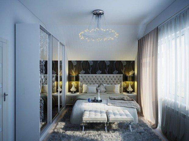 Фотография: Спальня в стиле Классический, Малогабаритная квартира, Интерьер комнат, Советы, Зеркала – фото на InMyRoom.ru