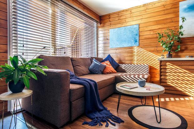 Фотография: Гостиная в стиле Эко, Гид, Belinka, как покрасить дачу, дачные домики – фото на INMYROOM