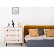 """Кровать """"Queen Anastasia"""" с бежево-серым изголовьем 160х200 см"""