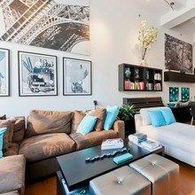 Фотография: Гостиная в стиле Современный, Лофт, Декор интерьера, Квартира, Дома и квартиры, Большие окна – фото на InMyRoom.ru