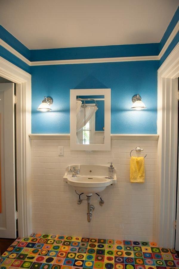 Фотография: Ванная в стиле Прованс и Кантри, Декор интерьера, Дизайн интерьера, Цвет в интерьере, Желтый – фото на InMyRoom.ru