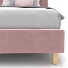 Односпальная кровать Kylie kids на ножках розового цвета 90х200
