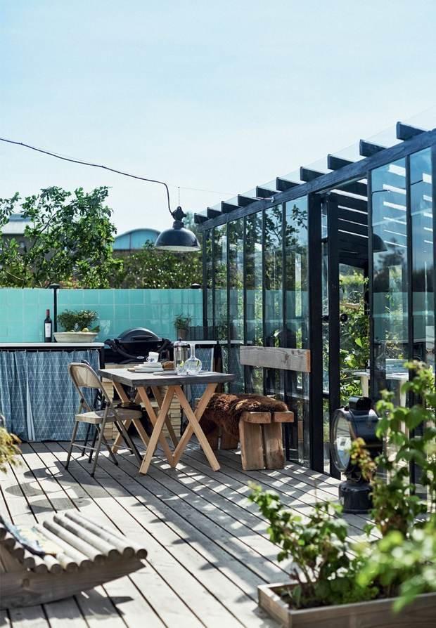 Фотография: Терраса в стиле Лофт, Дом, Планировки, Декор, 40-60 метров – фото на INMYROOM