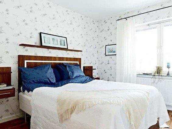 Фотография: Спальня в стиле Прованс и Кантри, Малогабаритная квартира, Квартира, Швеция, Дома и квартиры – фото на InMyRoom.ru