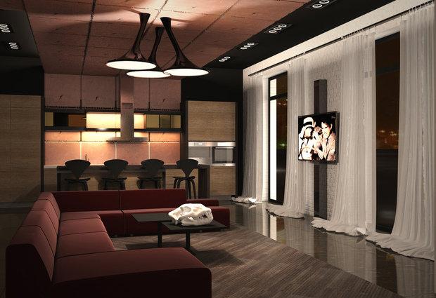 Фотография: Гостиная в стиле Современный, Индустрия, События – фото на InMyRoom.ru