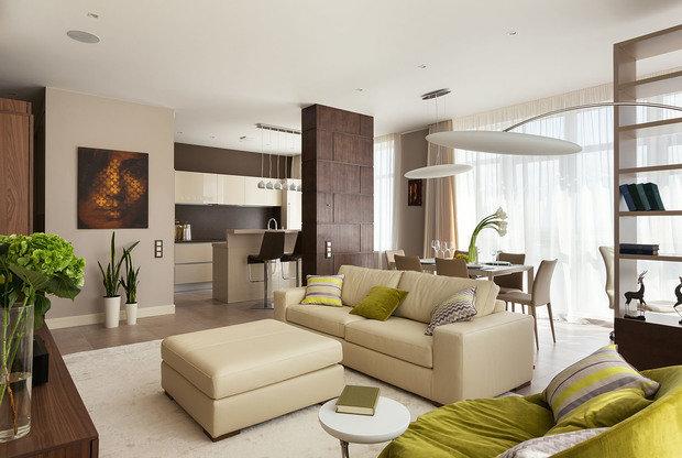 Фотография: Гостиная в стиле Современный, Эко, Классический, Квартира, Проект недели – фото на InMyRoom.ru